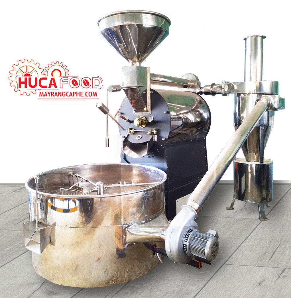 máy rang cà phê hot air, máy rang cafe hot air giá rẻ, may rang ca phe huca food