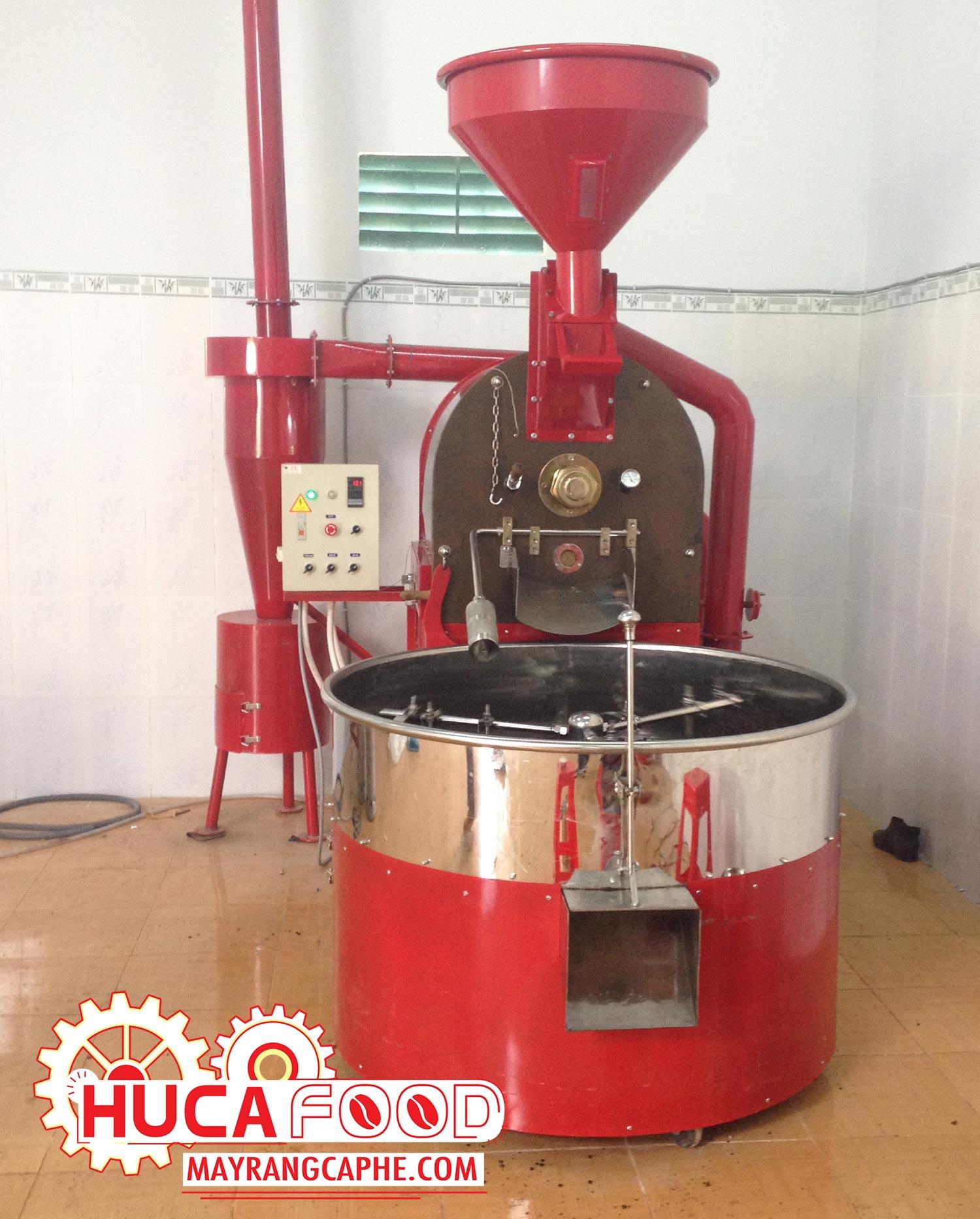 Máy rang cà phê 30kg Huca Food