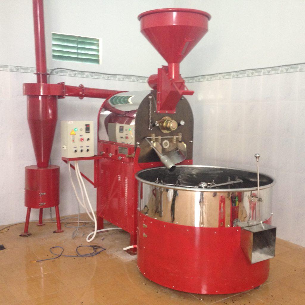 Máy Rang Cà Phê Tại Đà Lạt - Lâm Đồng - Máy rang cà phê, máy rang cafe 30kg Huca Food