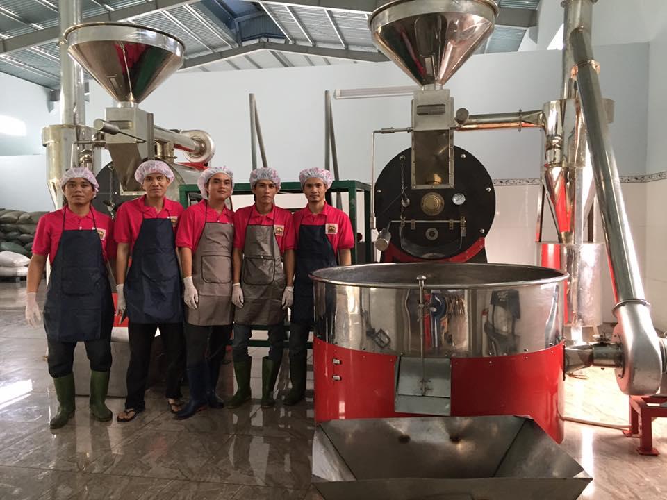 Máy rang cà phê quy mô công nghiệp, xưởng sản xuất