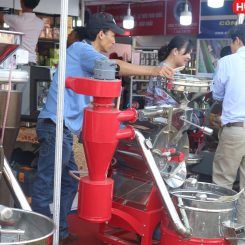 Máy rang cà phê 5kg/mẻ hot air cấu tạo ra sao?. Giá cả nó có đắt không?