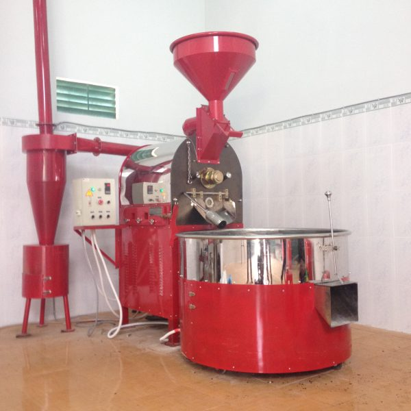 Máy rang cà phê 30kg huca food , hot air