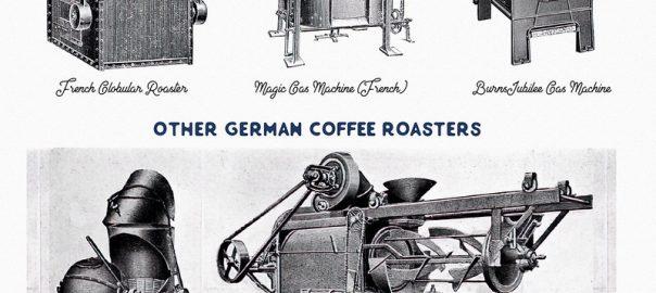 Một số thiết kế máy rang tại châu Âu trong thế kỷ 19