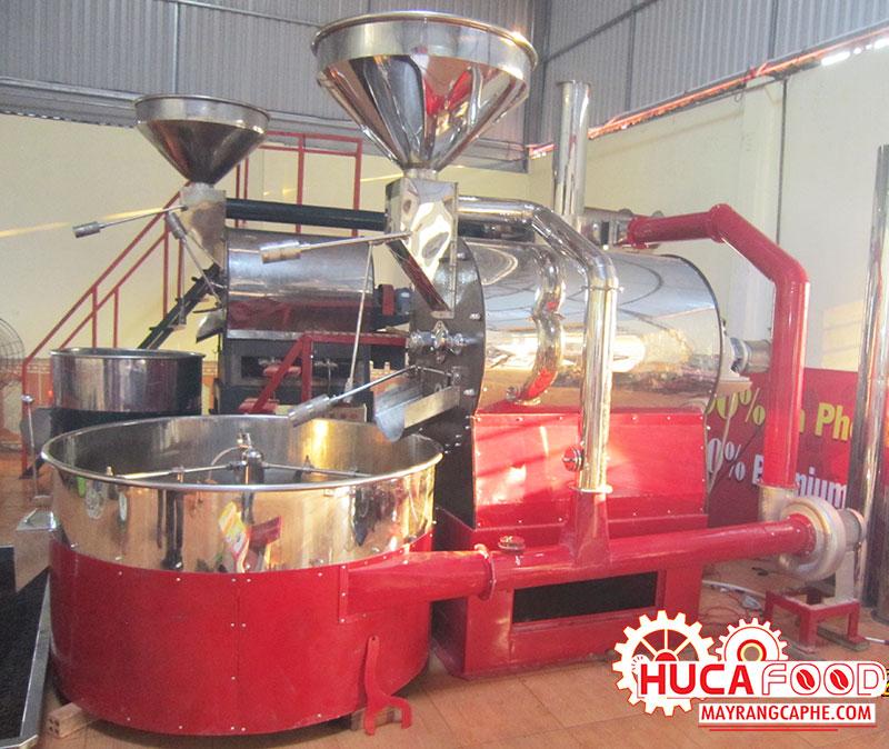 Máy rang cà phê Huca Food sử dụng công nghệ Hot Air